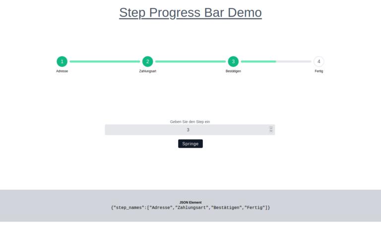 TailwindCSS und VanillaJS – Step Progress Bar