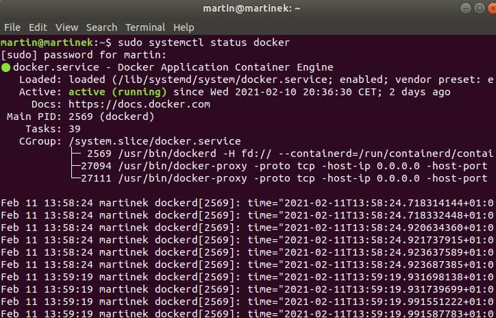 Docker Status